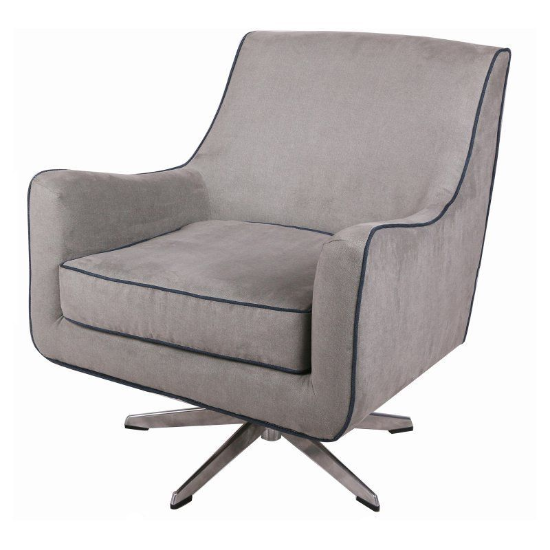 Gravity Denim Accent Chair: New Pacific Direct Inc Zora Denim Swivel Accent Chair