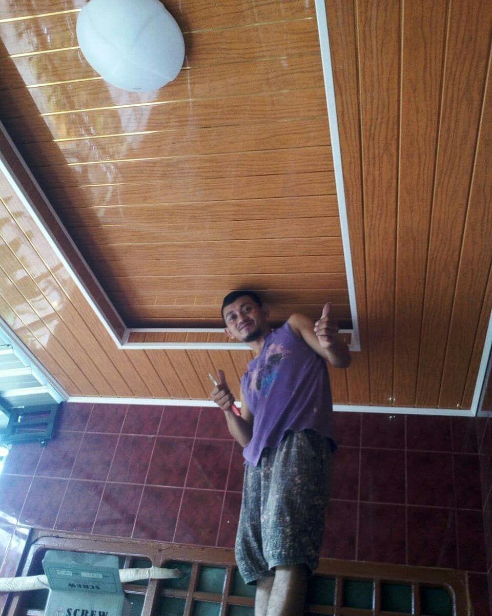 plafon dari baja ringan lantai vinyl conwood di instagram pasang pvc