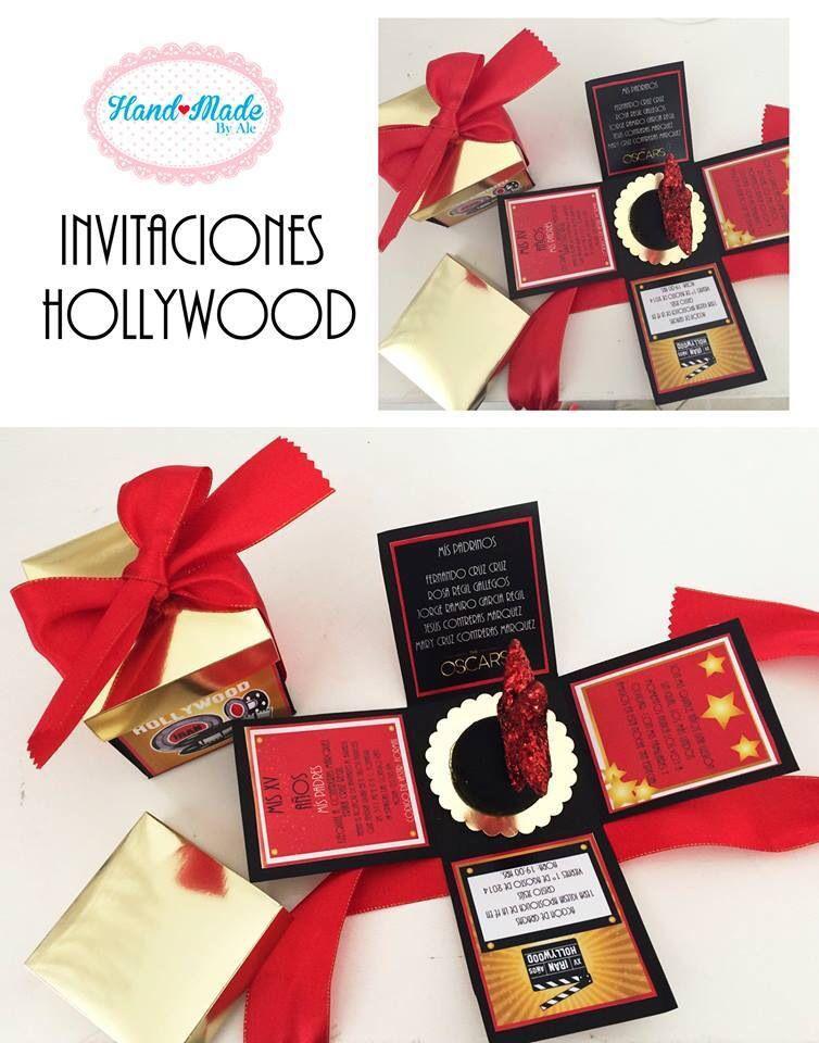 Invitación Xv Años Hollywood Handmade By Ale