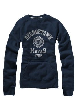 f754a288cd4698b1bbf561fa5fcd87fe product georgetown university hoyas women's crewneck sweatshirt,Womens Clothing Georgetown