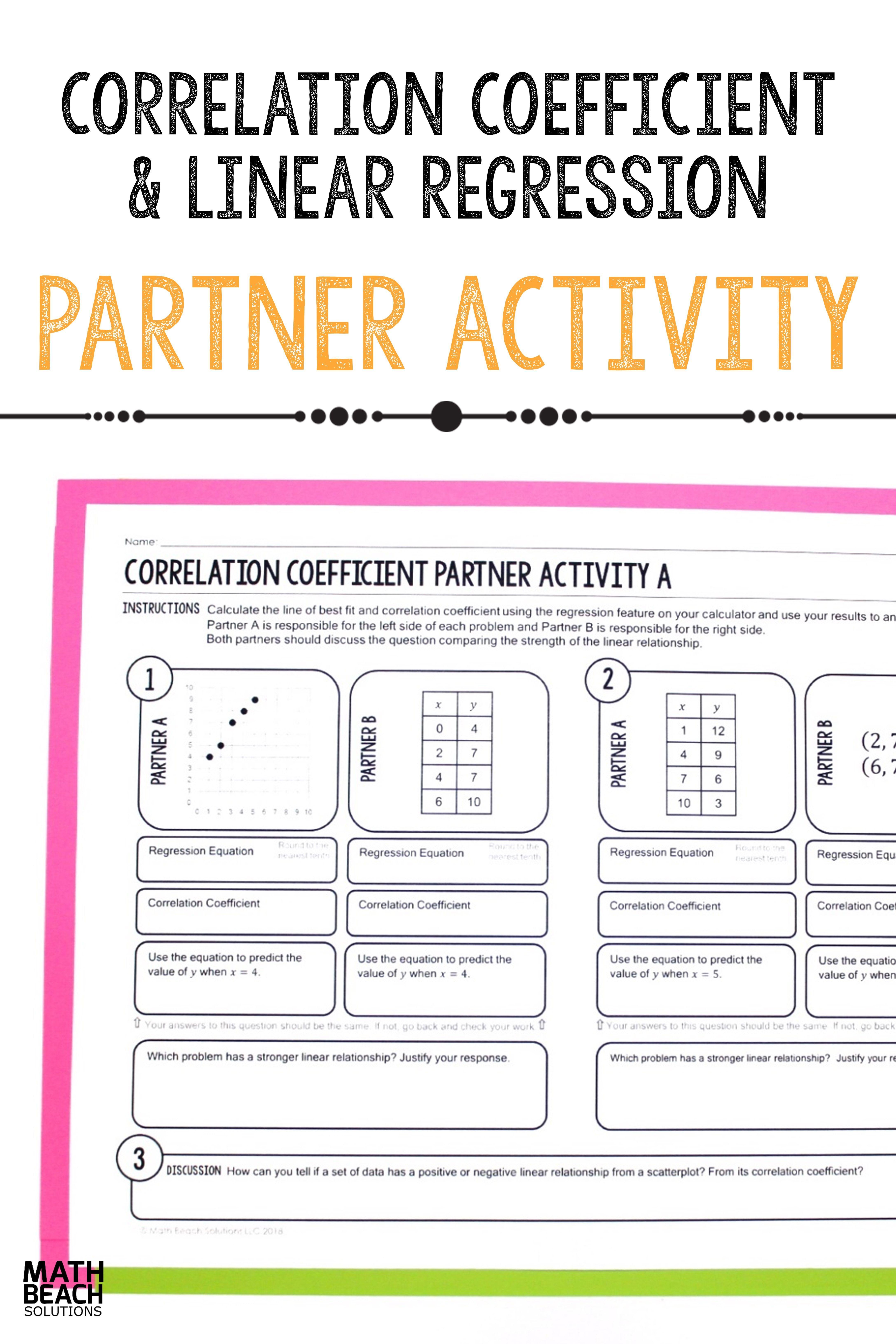 Correlation Coefficient Partner Activity Linear