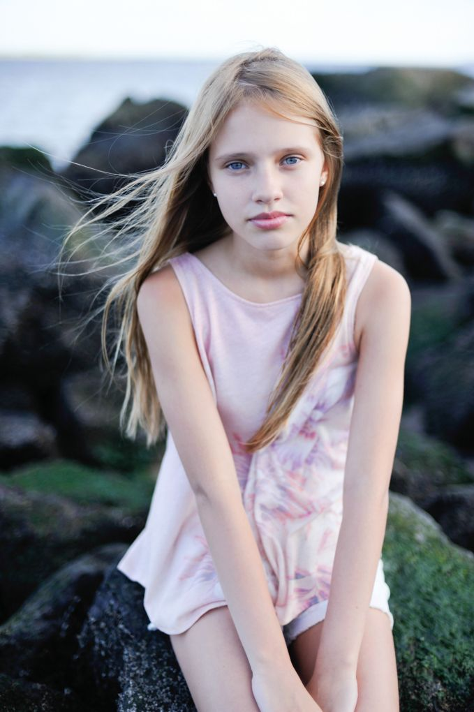 Beautiful young teen girl faces many