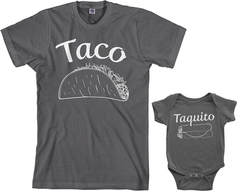 4ca5d91b05c3 Amazon.com: Threadrock Taco & Taquito Infant Bodysuit & Men's T-Shirt  Matching Set: Clothing
