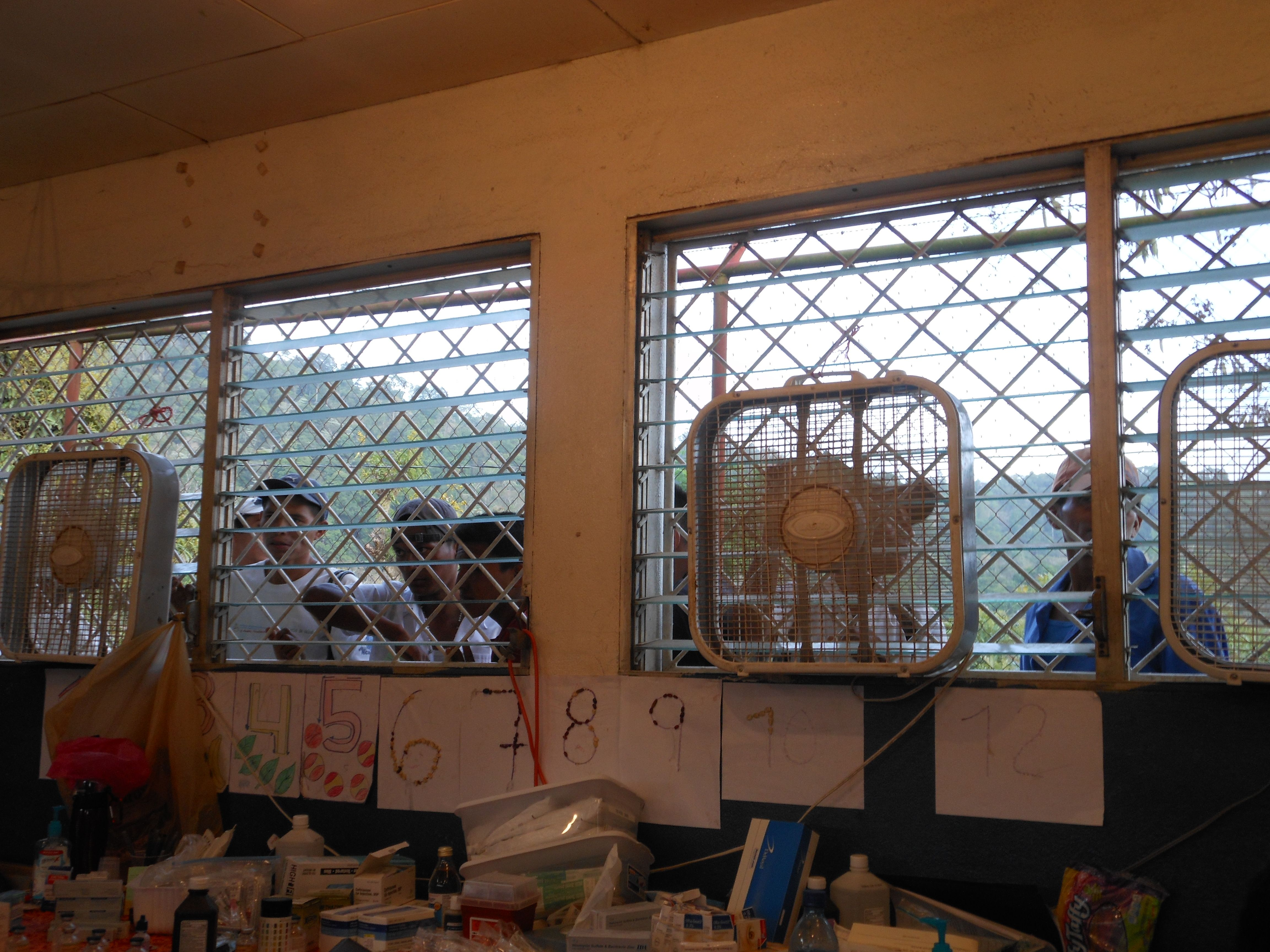 Nicaragua 2014, Our classroom turned clinic