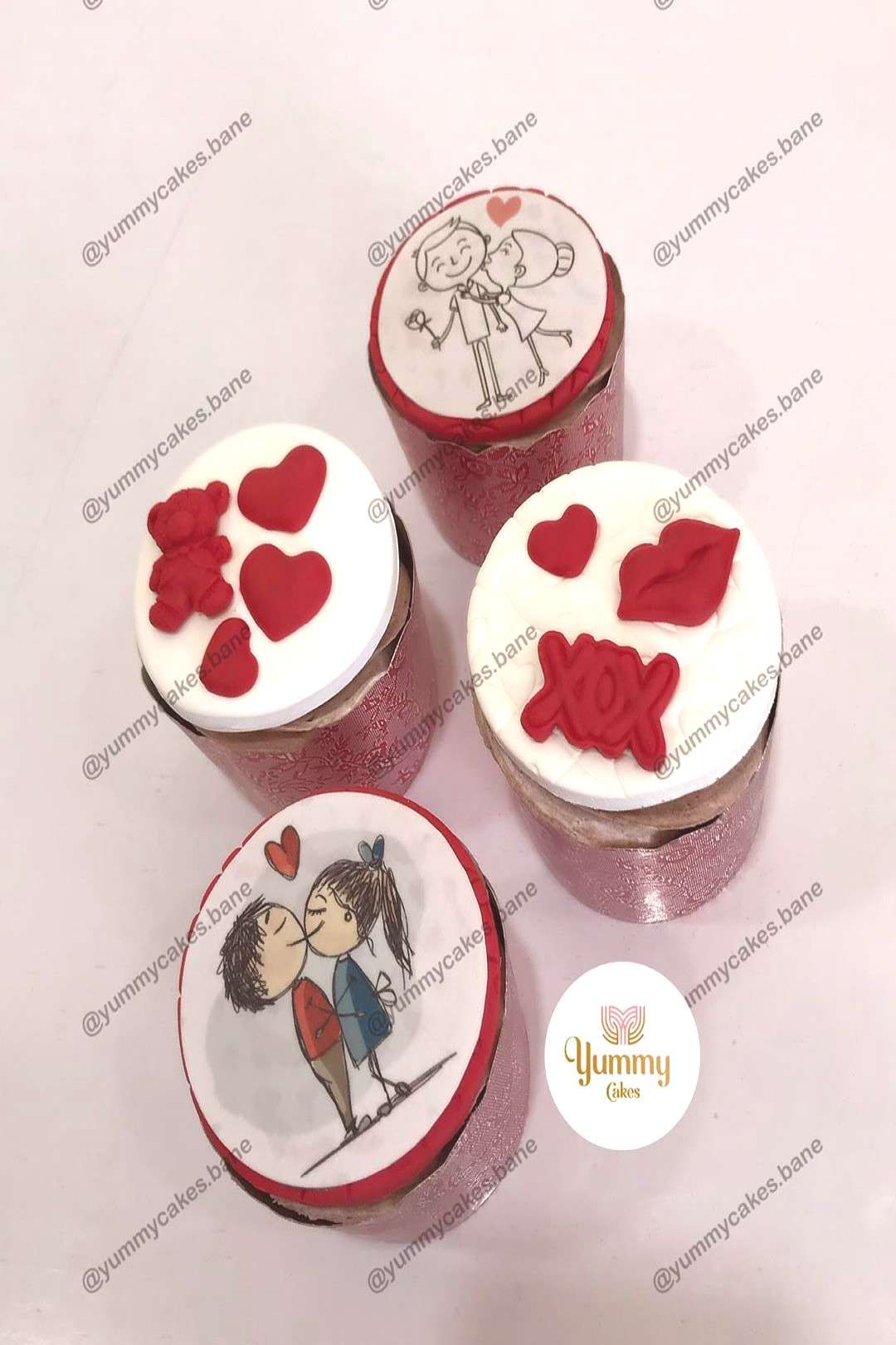 #valentinecupcakes #bane #کاپ_کیک_ولنتاین