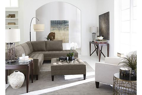 Havertys Parker Core Sectional Rev In Cooper Cashmere Cheap