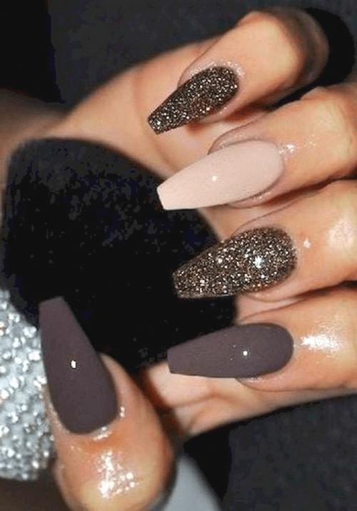 Herbst Nägel Ideen: Nägel 70+ prächtige und schöne Sargnägel Ideen für jedes Jahr 46 ~ telorecipe212.com #promnails #Fall #Nails #Ideen