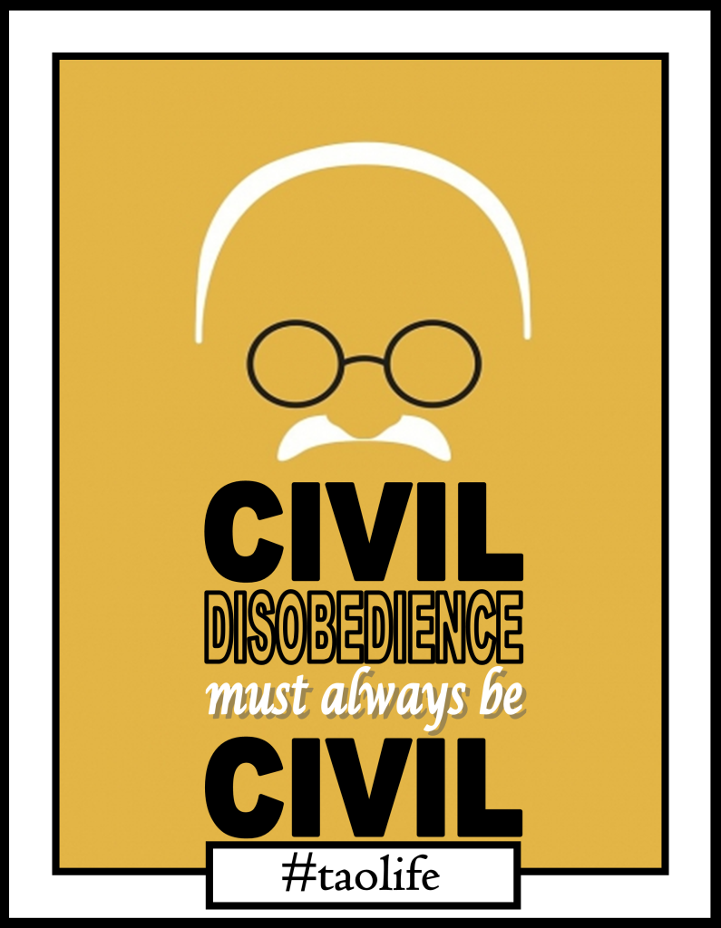 Life Quote Poster Poster Civil Disobedience Must Always Be Civilmahatma Gandhi