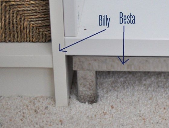 besta frame and billy base | Hacks | Pinterest