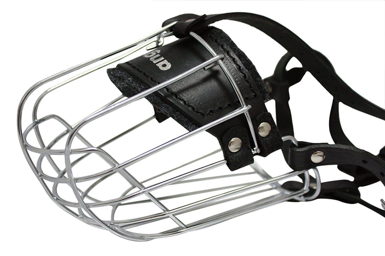 Wire Cage and Leather Muzzle (Miami). Size 9, Black. 13.75 ...