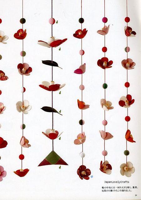 Chirimen Handmade Crafts - Japanese Traditional Craft Book - Crepe Fabric Retro Zakka - Oshie, Hanging Ornament, Temari - Katsumi Yumioka 11
