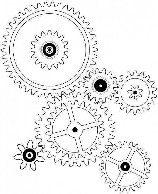 Steampunk gears drawing