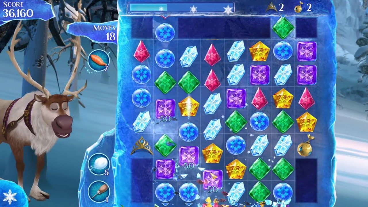 Frozen Free Fall Trailer game for Android Frozen free