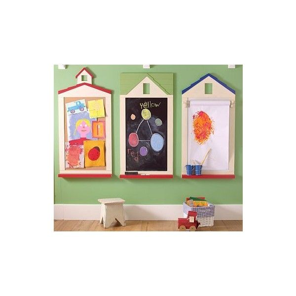 Primary Schoolhouse Utility Décor ($9) ❤ liked on Polyvore featuring rooms