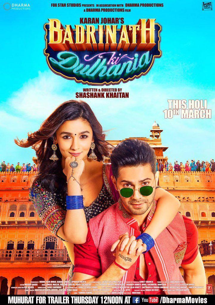Badrinath Ki Dulhania New Poster Ft Varun Alia With Images