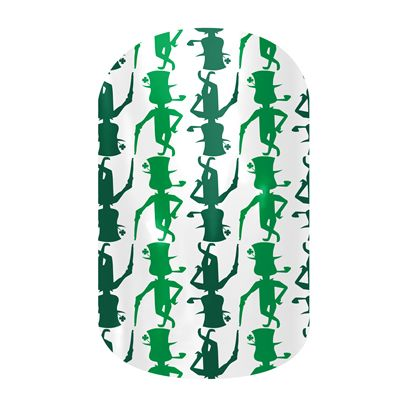 Perfect nail wraps for St. Patrick's Day!! #nails