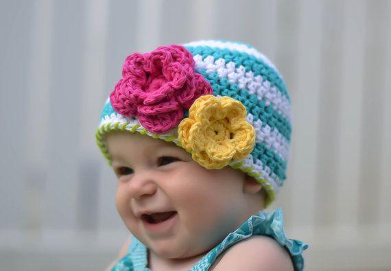 crochet el sombrero del bebé sombrero de la muchacha del