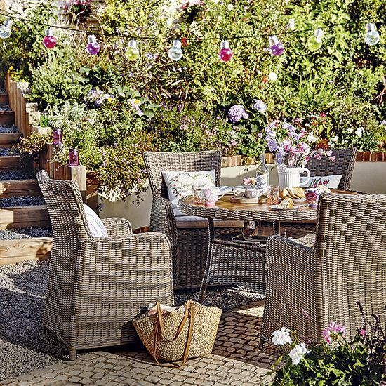 Fling open the doors, pop up your parasol and dust off your seat pads - it's time to invest in one of the latest outdoor dining sets for alfresco lunches and stylish soirees