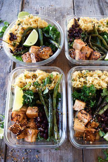 Meal Prep Series: Teriyaki Tofu with Cilantro Lime Rice & Veggies #crockpotmealprep