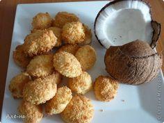 Печенье для любителей кокоса)))) Из разряда очень простых в приготовлении рецептов. И фигуре не повредит,так как нет в рецепте масла и муки. фото 1