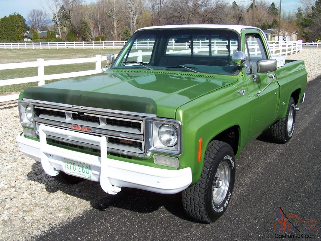 1975 Gmc Chevy 4x4 Shortbed 1 Owner 4speed 350 Original Condition Gmc Truck Trucks Gm Trucks