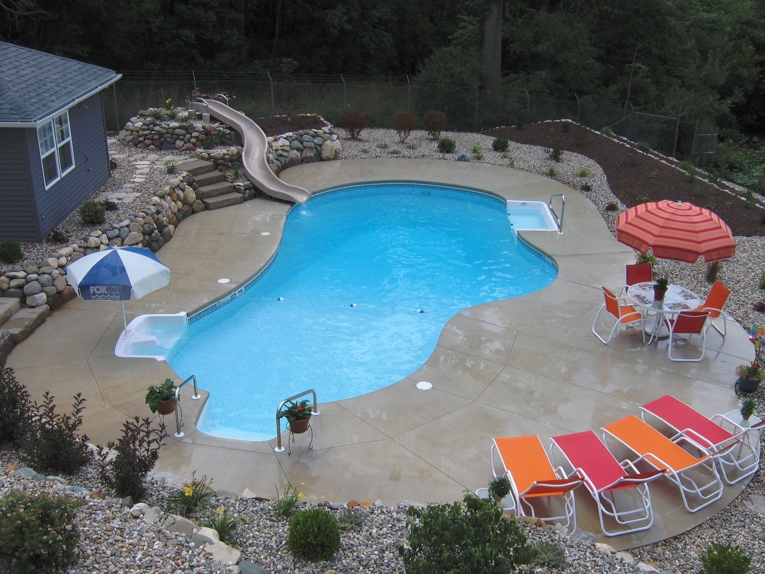 Built by Bontrager Pools 27' x 40' Lagoon BYOS (build your ...