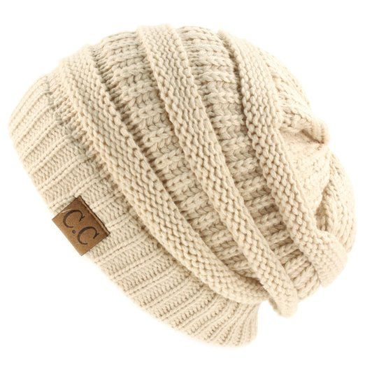 db7f1dbfb Unisex Winter Chunky Soft Stretch Cable Knit Slouch Beanie Skully ...