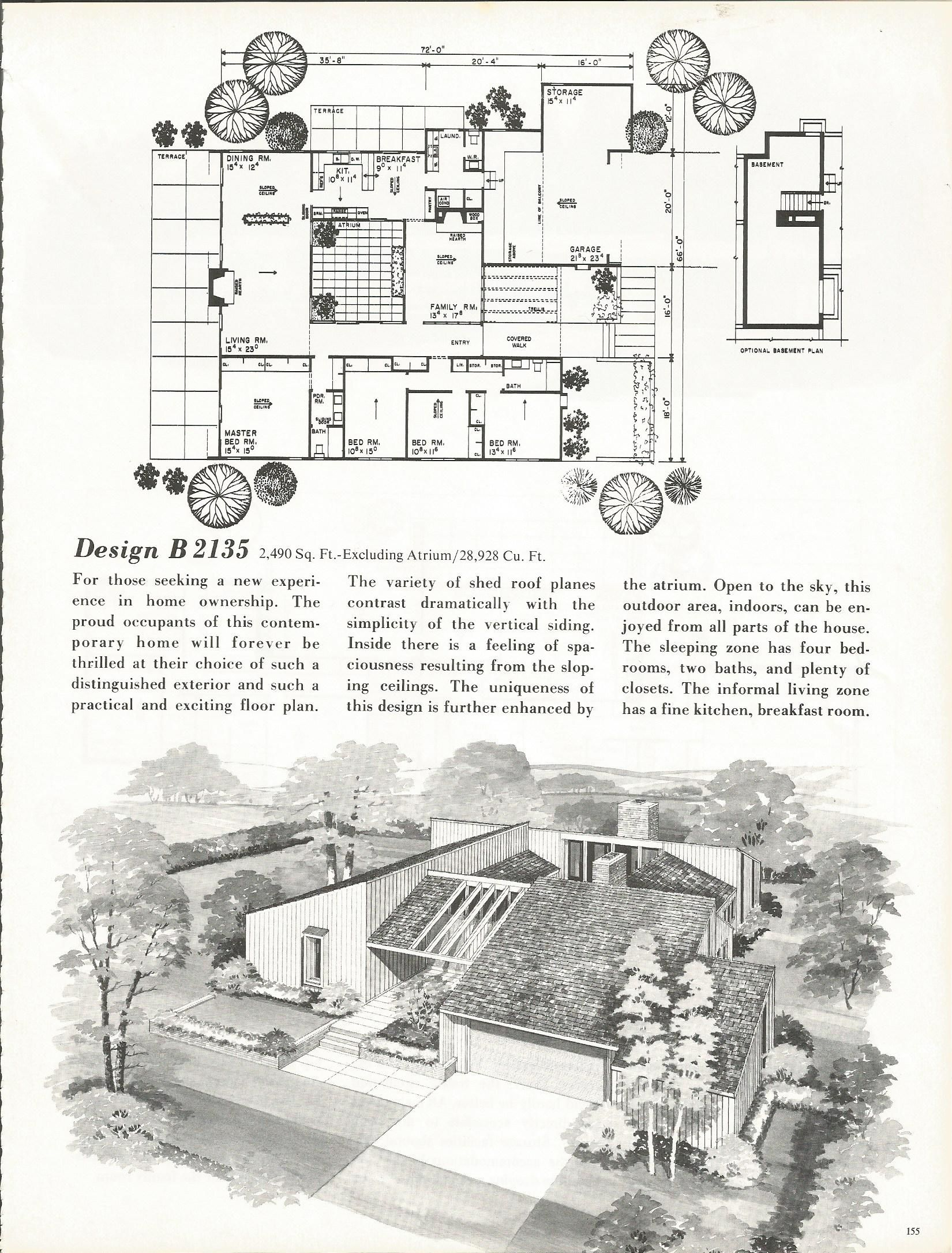 Vintage House Plans, Mid Century Homes, 1960s Homes ...