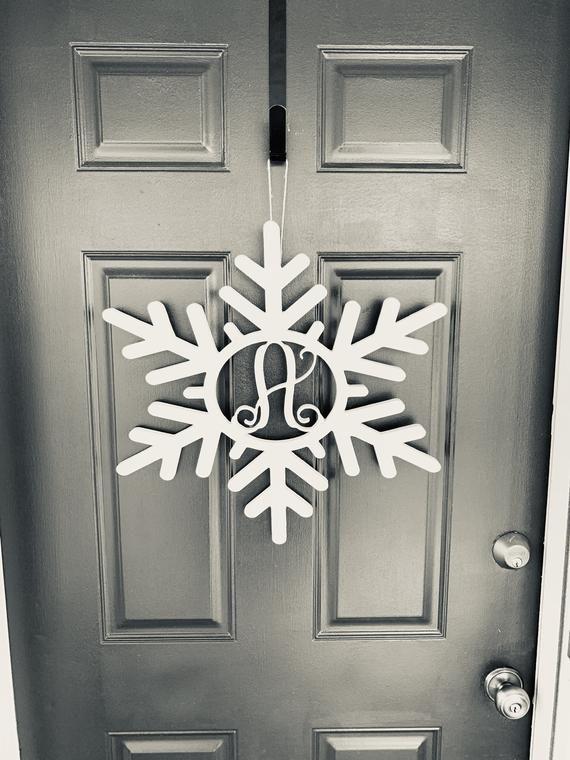 Monogram Snowflake door hanger #hangersnowflake