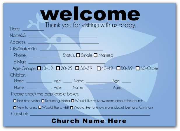 visitor card templates