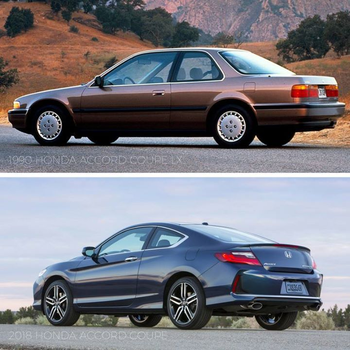 Tbt 1990 Honda Accord Coupe Lx Vs 2018 Honda Accord Coupe