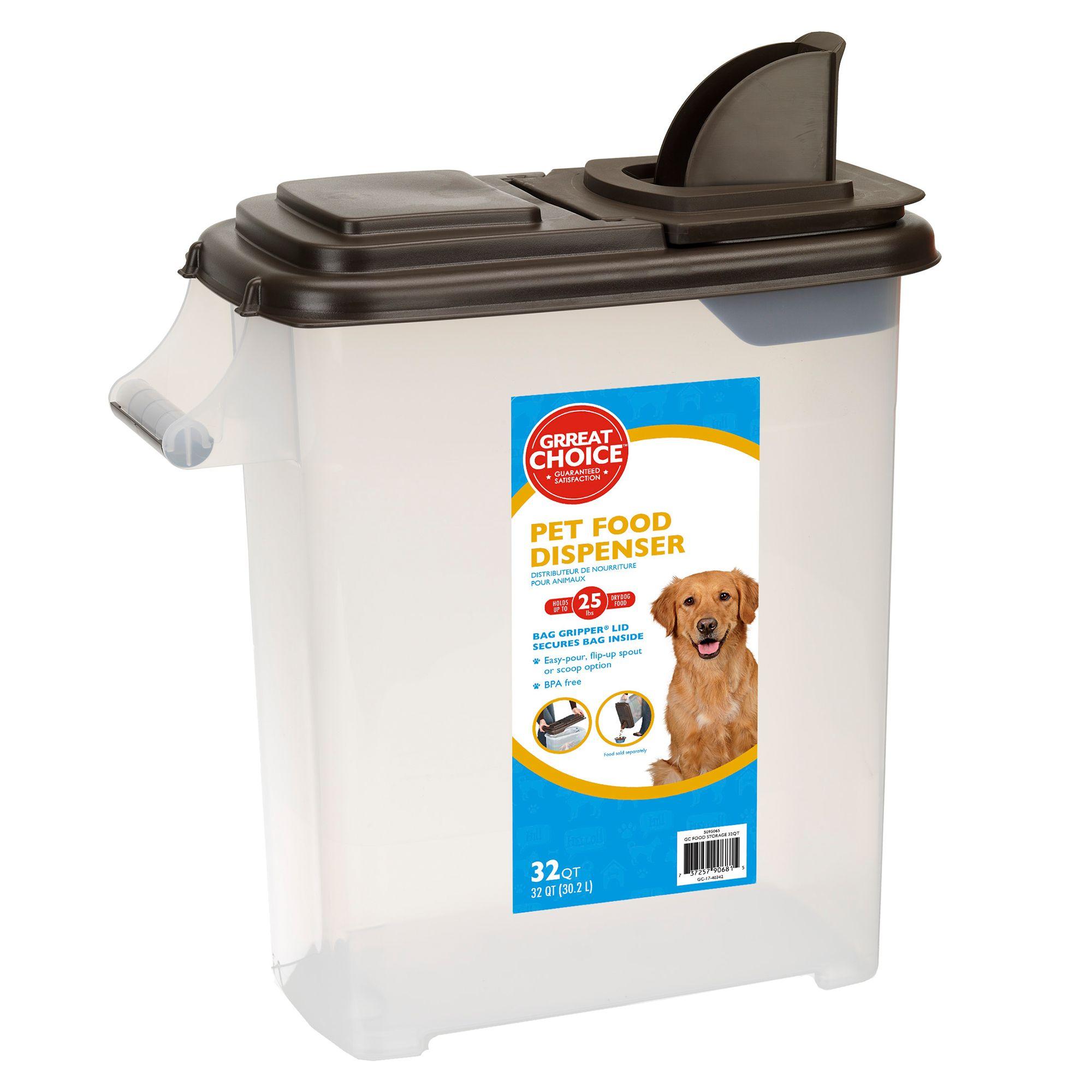 Top Paw Pet Food Storage And Dispenser Size 32 Qt Grreat Choice