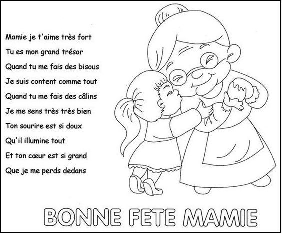 Po me f te des mamies images diverses grandparents day mothers day crafts et grandparents - Poeme anniversaire tata ...