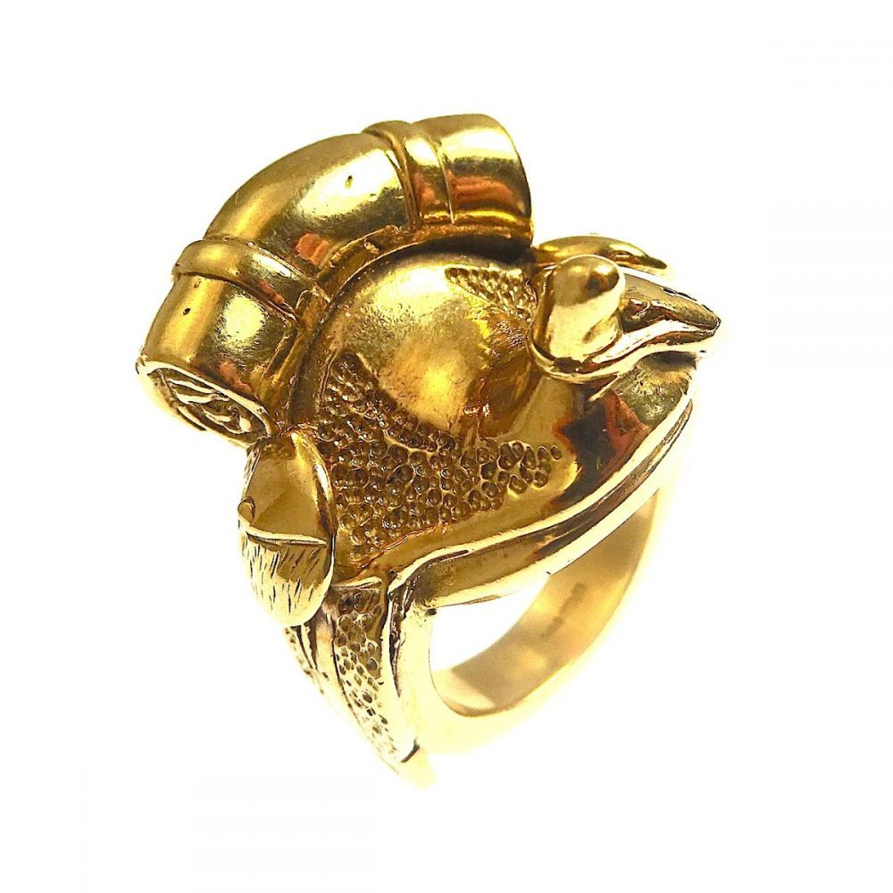 Free Gift Packaging Stainless Steel Gold Plated Saddle Ring