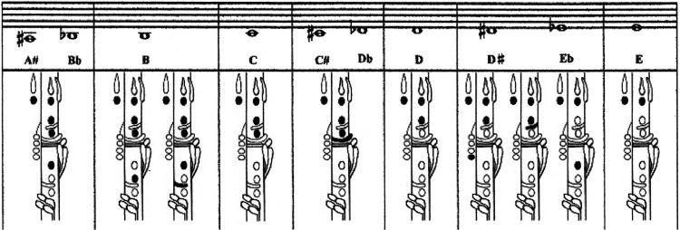 Clarinet Fingering Chart  Clarinet    Clarinets