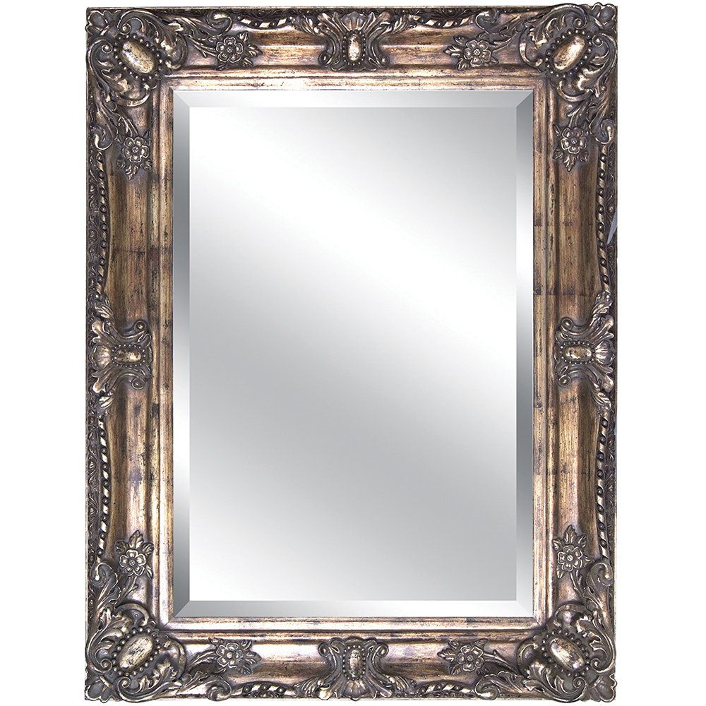 Shop yosemite home decor ymt002s antique gold framed bathroom mirror at atg stores browse our for Decorative bathroom wall mirrors