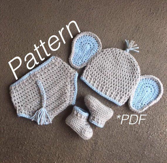 Baby Elephant Outfit, Elephant Pattern, Elephant Costume, Elephant Hat, Hat Crochet Pattern, Crochet Elephant, Baby Crochet, Hat Pattern