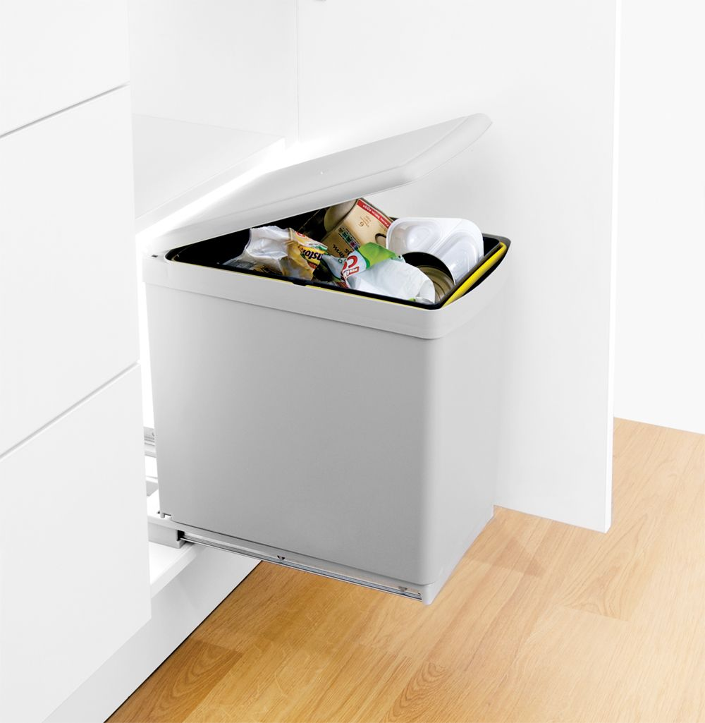 Kitchen Waste Bin Door Mounted Waste Bin With Automatic Lid The Contract Bin Is A Floor Mounted