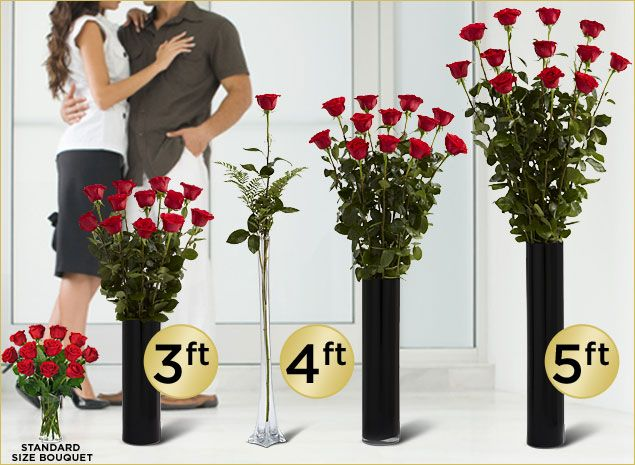 Ultimate Roses By Ftd 3 Foot 4 Foot And 5 Foot Roses Valentine S Day Flowers Send Flowers Gifts For Del Roses Valentines Day Rose Delivery Flower Gift