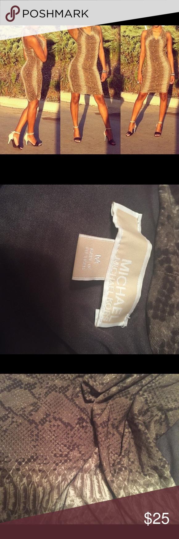 Michael Kors Snake Print Dress Michael Kors Snake Print Dress (Worn Once) MICHAEL Michael Kors Dresses Midi