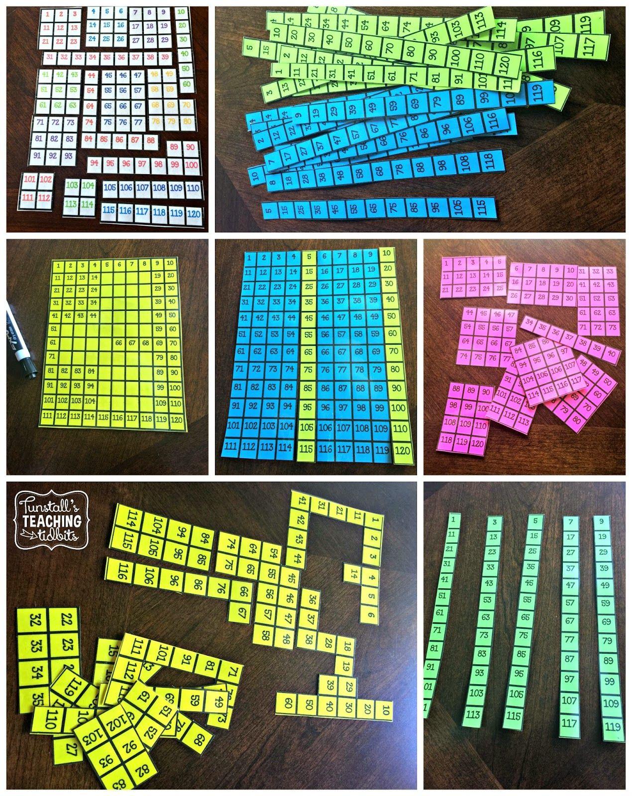 number sense, hundreds chart ,number patterns, number puzzles, skip ...