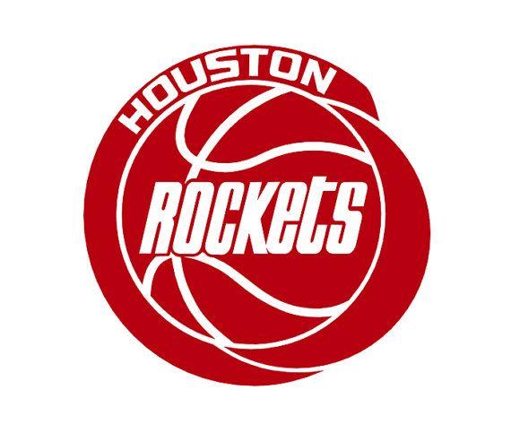 704d7f9e284 Retro Houston Rockets Basketball Vinyl Decal by PaZaBri on Etsy ...