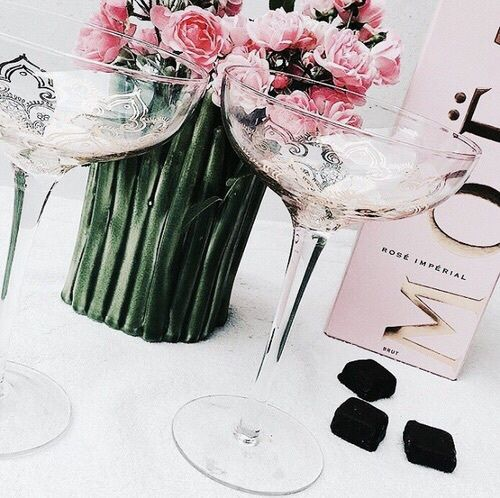champagne, chocolate, and rose image