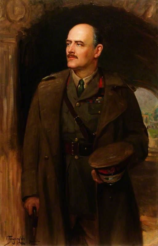 A portrait of Lieutenant General Edmund Allenby, the commander of the BEF's Cavalry Corps at the First Battle of Ypres.