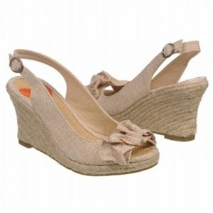 SALE - Rocket Dog Dana Wedge Heels Womens Natural Fabric - Was $49.00 - SAVE $2.00. BUY Now - ONLY $46.55.