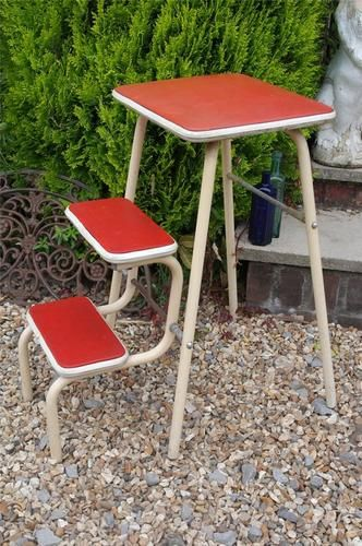 Vintage Kitchen Steps Folding 1950 S Stool Step Ladder