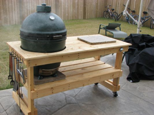 Delightful Big Green Egg Table Plans Xl
