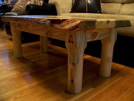 Beetle Kill Pine Slab Coffee Table Live Edge Tables In