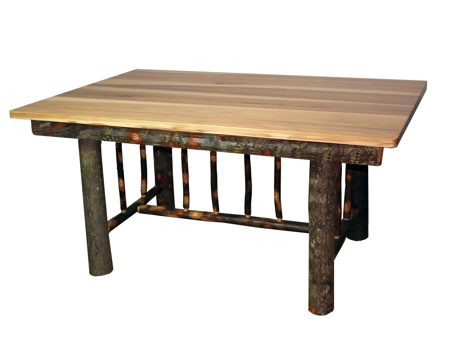 Rustic Hickory Mission Style Dining Table  Rustic Dining Room Magnificent Hickory Dining Room Sets Inspiration