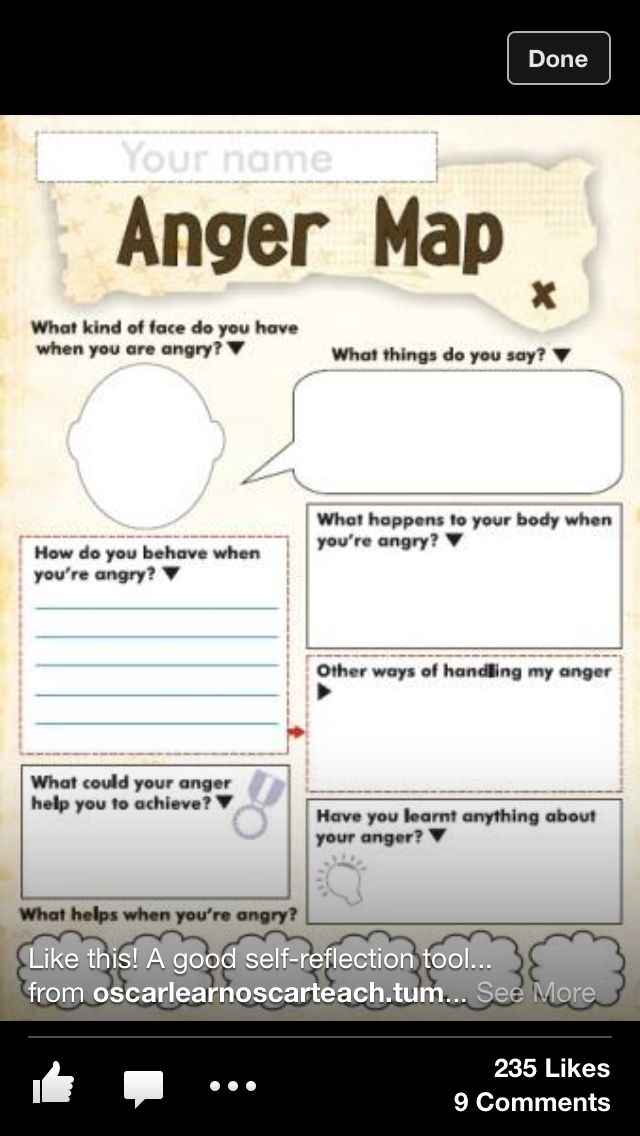 Anger Map صفا Worksheets For Kids Map Worksheets